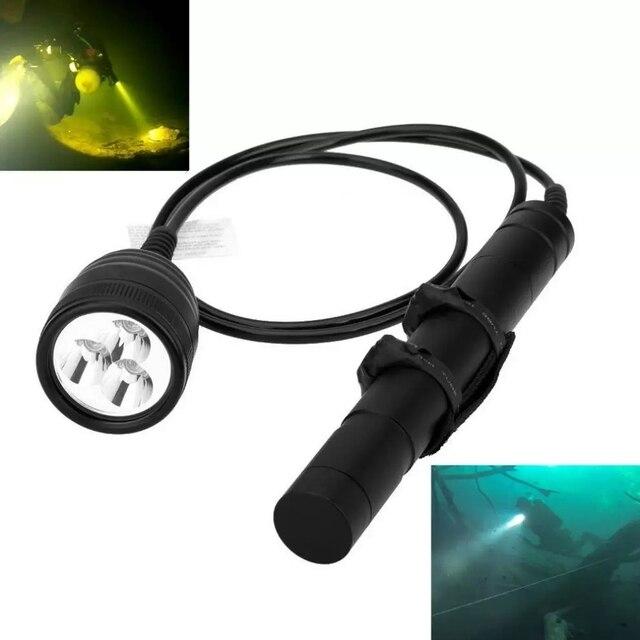 Brinyte 3000LM Tiểu Hộp Đèn Pin Lặn 3x Cree XML2 3000LM LED Lặn Biển Đèn Pin Sáng 200M Dưới Nước Mạnh Đèn