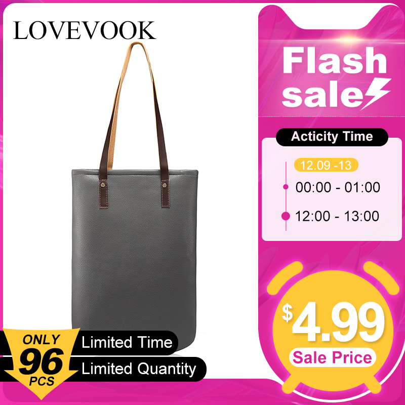 [FLASH SALE] LOVEVOOK Women Shoulder Bags Soft Female Handbag Casual Tote Bag High Quality Shopping Bag Large Minimalist