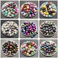Многоцветные стеклянные бусины для самостоятельного изготовления ювелирных изделий, ожерелий, браслетов, 6, 8, 10 мм