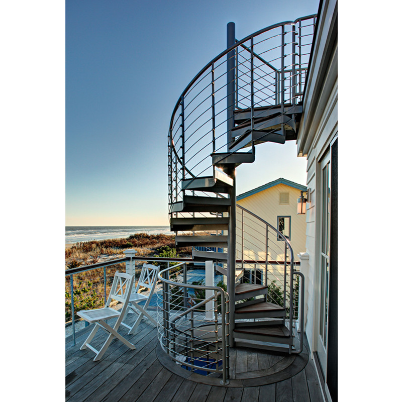 Outside Cast Iron Spiral Stairs Design Outdoor Wrought Iron Stairs | Outdoor Iron Staircase Designs | Round | Home Stair Design | Backyard | Spiral Staircase | Eye Catching