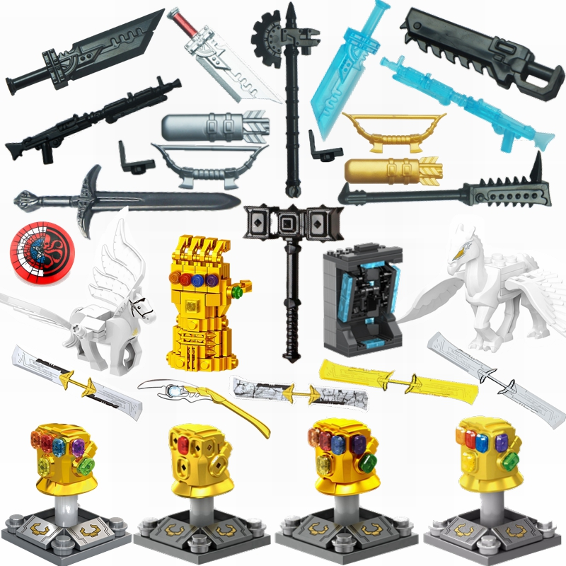 Super Heroes Figure Movies Weapons Accessories Parts Figures Models Kit Building Blocks Bricks Toys For Children Superhero Movie