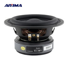 AIYIMA 5.25 Inch Subwoofer Speaker 4 8 Ohm 60W Woofer Audio Modification Deep Bass Bookshelf Loudspeaker for Home Theater DIY 1P