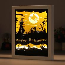 Gift Photo Frame Paper-cut Light Box Night Paper Carving Creative Shadow Lamp