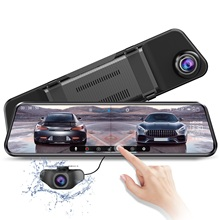 Car DVR Camera Mirror-Recorder Dual-Lens PG17 Stream Azdome Rearview-Touch Night-Vision