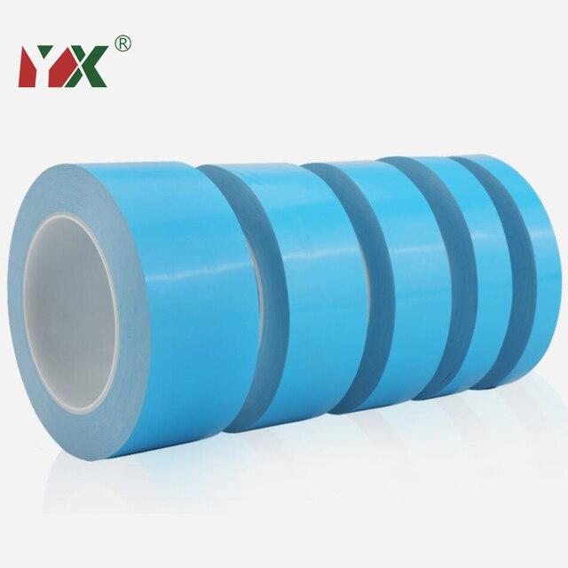 YX 25 metrów/rolka taśma termoprzewodząca dwustronna termoprzewodząca taśma klejąca do chipa PCB CPU taśma LED radiator światła
