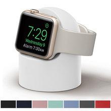 Силиконовая домашняя зарядная док-станция JONSNOW для Apple Watch 6, 5, 4, держатель, ночная подставка карамельных цветов, подставка для iWatch 3, 2, 1