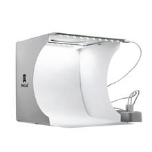 Buy Portable LED Photo Studio Light box Mini Folding Photography Box Softbox Lighting room with 2 Panel LED Light Background Kit directly from merchant!