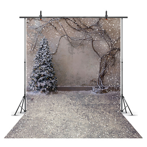 Snow Portrait Backdrop for photography Snowflake Background for photo booth studio Christmas Tree Photocall fondos Winter