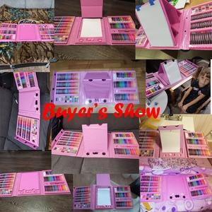 Image 2 - 176PCS Colored Pencil Artist Kit Set Painting Crayon Marker Pen Brush Drawing Tools Set Kindergarten Supplies hot sale for gift