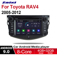 цена на ZaiXi 2 Din Car Multimedia Player Android 9 Auto Radio For Toyota RAV4 RAV 4 2005~2012 DVD GPS 8 Cores 4GB+32GB Bluetooth