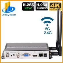 H.265 H.264 IP à SDI HDMI VGA CVBS décodeur vidéo en Streaming décodeur de caméra IP pour le décodage HTTPS RTSP RTMP UDP M3U8 HLS SRT