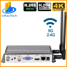 Декодер потокового видео H.265 H.264 IP SDI HDMI VGA CVBS, декодер IP декодер для камеры для декодирования HTTPS RTSP RTMP UDP M3U8 HLS SRT