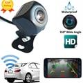 Câmera de visão traseira do carro sem fio wifi invertendo câmera hd visão noturna traço cam mini corpo wide-angle zona cega