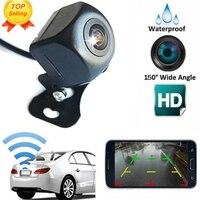 Caméra de recul sans fil pour voiture caméra de recul WIFI caméra de recul HD Vision nocturne caméra de tableau de bord Mini corps grand angle zone aveugle