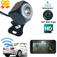 Wireless Car Rear View Camera WIFI Reversing Camera HD Night Vision Dash Cam Mini Body wide angle blind zone