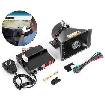 Car horn 200W 8 Tones Loud Warning Alarm Polices Fire Emergency Siren Speaking Horn PA Speaker MIC System