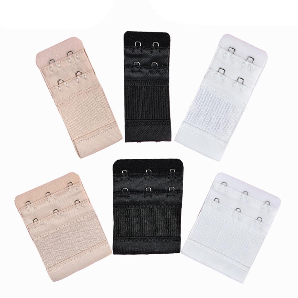 6Pcs Women Soft Comfortable Bra 2 & 3 Hooks Extender Strap Adjustable Extension