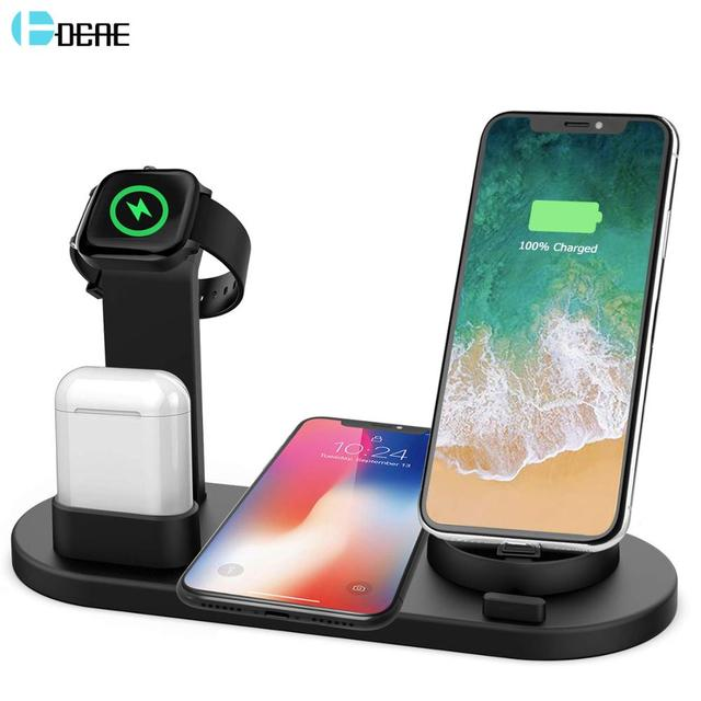 3 in 1 Wireless Charger Stand for iPhone 11 Pro XR XS X 8 10W USB Fast Charge QI Charging Dock for Apple Watch 5 4 3 2 1 Airpods 1