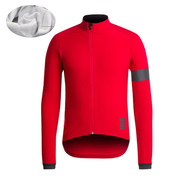 2018 Winter Thermal Fleece Men red Bicycle Long Sleeve Cycling Jersey Clothing Pro Team Outdoor Mountain Road Uniform Bike(China)