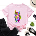 Cute Cats Pet Lovers Women Short Sleeve Crewneck Cotton T-Shirt Graphic Tee Tops Summer Clothes for Woman Female Tees Shirt