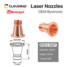 Ultrarayc Laser Nozzle Base voor Fiber Snijkop Bystronic D2 H30.5 PIN 2-08701(China)