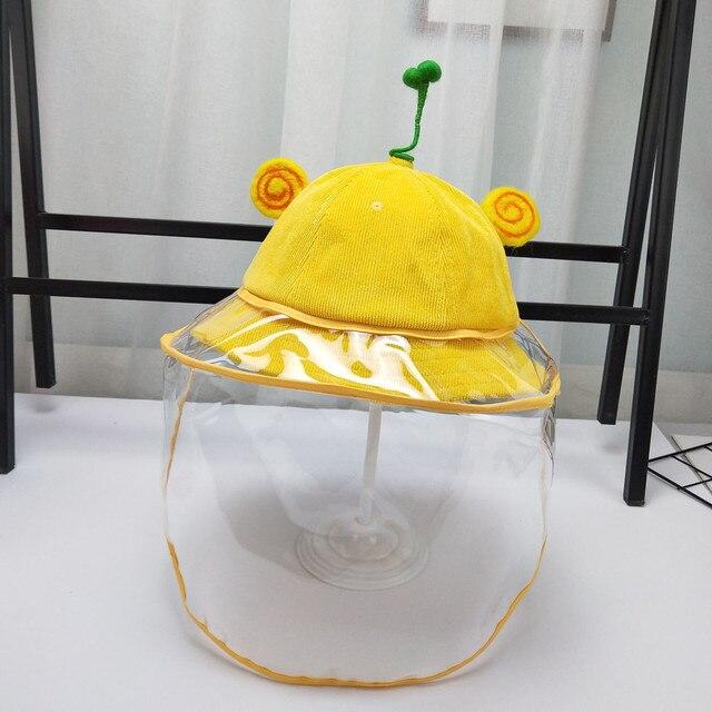 Anti-niebla a prueba de viento sombrero Anti-saliva cubierta de la cara Cap niños niñas Anti-spitting infección ojo protector pescador niños gorra sombreros