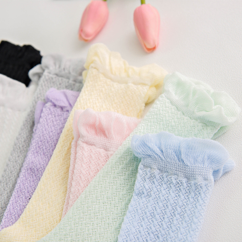 0 24 month Knee High Long Socks Summer mesh breathable baby socks newborn Ventilation Kids Socks elastic Cotton Boy Girls Socks in Socks from Mother Kids