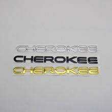 Para cherokee emblema logotipo adesivo 3d letra palavra tronco traseiro do corpo do carro abs chrome placa de identificação auto emblema decalque