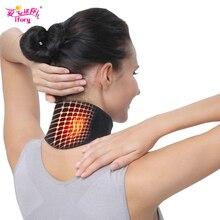 Ifory забота о здоровье шеи поддержка Массажер 1 шт. Турмалин самонагревающийся шейный пояс защита спонтанная нагревательный пояс массажер для тела