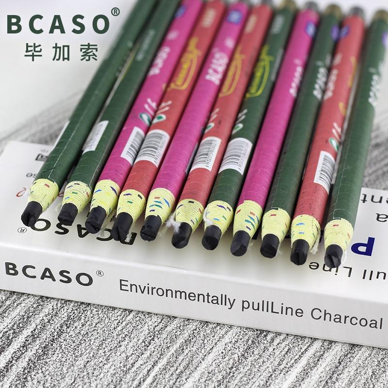 12Pcs/set Pull Thread Charcoal Pencil For Sketching  Soft/Medium/Hard Drawing Pencils Cut Pull Line Simple Pencils Art Supplies|Standard Pencils| |  - title=