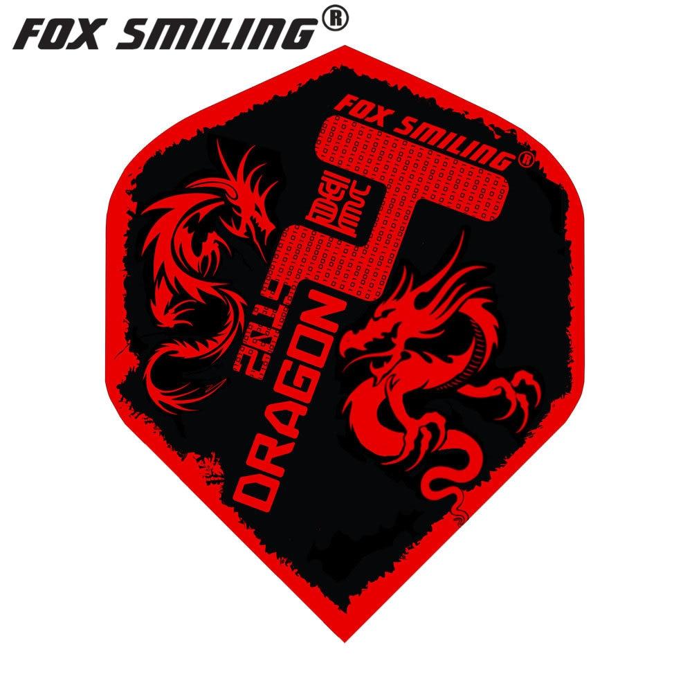 Fox Smiling 30PCS Dart Flights PET Darts Flights Professional Dart Accessories Dardos Feather Leaves Dartboard Games