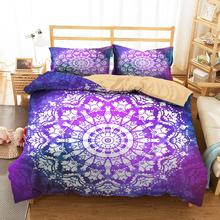 Bedding Clothes Home Textiles Dream Purple Mandala Printed Duvet Cover with Pillowcases for Adult Queen Single Size bedding clothes home textiles dream dark purple mandala printed duvet cover with pillowcases for adult queen double size