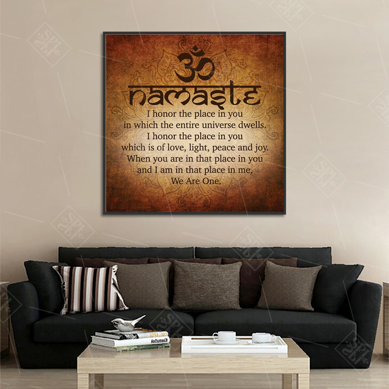 Namaste-Art-Calligraphy-Canvas-Painting-Modern-Wall-Art-Print-Picture-Meditation-Buddha-Painting-Bedroom-Decoration-Posters