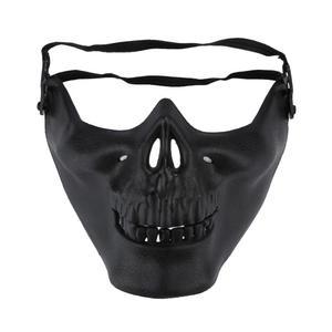 Image 3 - 2020 Year Halloween half face skull mask skull warrior mask CS actual combat mask horror face mask Free Shipping