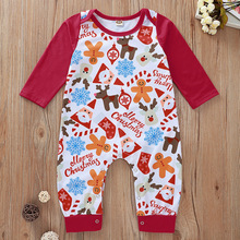 Baby Children Rompers Autumn 2019 Holiday Clothes Christmas Cartoon Print Fresh And Cute Jumpsuit For Baby Girls And Boys Kids jumpsuit lucky child for girls and boys 29 13d children s clothes kids rompers for baby