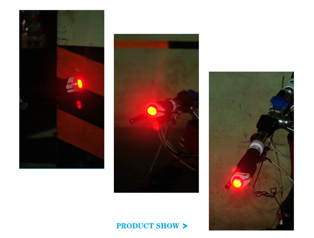 2pcslot Bike Handlebar Light Bicycle Handle Grip LED Turn Signal Safty Warning Cycling Indicator Lamps Bike Lights BC0005 (8)