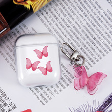 Lovely Butterfly Earphone Case for Airpods Pro Box Clear Headset Case for AirPods 2 1 3 Headphone