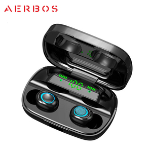 Image 2 - AERBOS Tws Bluetooth 5.0 Wireless Earphones S11 Touch Control In Ear Headphones with Microphone 3500 mAh Power Bank Mini Earbuds