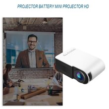 LED Mini Portable Projector 1080P HD Projection Yg210 Household Micro Mini Projector For Lesiure White