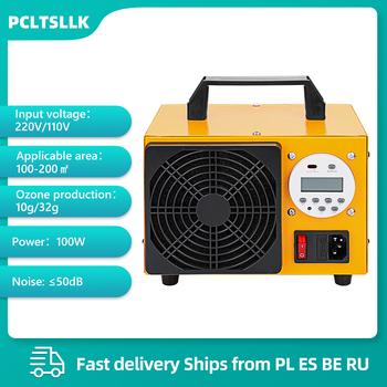 PCLTSLLK Generator ozonu 32G 10G Ozonator maszyna oczyszczacz powietrza regulator czasowy 220V ue wtyczka z wyświetlaczem sprzęt do sterylizacji tanie i dobre opinie 50m³ h CN (pochodzenie) 110 w 220 v 10g h 32g h 61㎡ Przenośne 99 00 Elektryczne 99 90 inny ≤50dB 1000000 sztuk m³