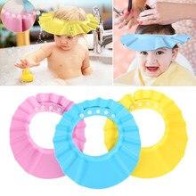 1pc crianças ajustável seguro shampoo banho de chuveiro tampões macios 3 cores chapéus do bebê à prova dwaterproof água lavagem cabelo escudo 2020 venda quente