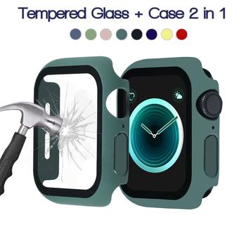 360 pełna ochrona ekranu ramka bumpera matowy twardy futerał do Apple watch 6 SE 5 4 3 2 1 pokrowiec ze szkła hartowanego do iwatch 4 5 tanie i dobre opinie ProBefit Z tworzywa sztucznego CN (pochodzenie) Zegarek Przypadki Case for iWatch Case Tempered Glass for Apple Watch Case Protector for Apple Watch 4