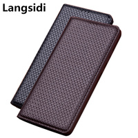 Genuine leather magnetic mobile phone bag for Samsung Galaxy J4 2018 flip cover for Samsung Galaxy J6 2018 phone bag stand case