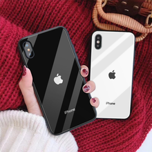 Tempered Glass Phone Case for Iphone 12Pro 11 ProMax X Cool Brand Case for Iphone XS MAX XR SE 6S 8 7Plus Capa Fitted Case Plain
