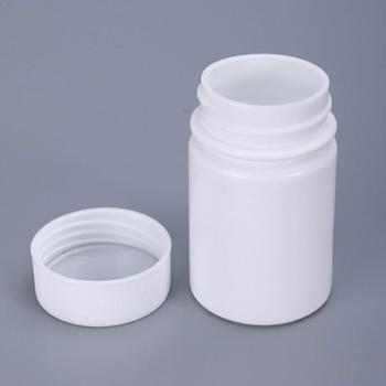 1PC 15/20g Plastic PE White Empty Seal Bottles Vials Packing Powder Containers Pill Reagent Medicine Y0E1 image