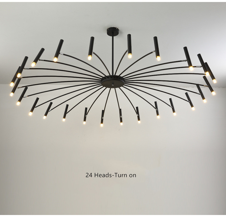 Nordic Loft Art Led Chandelier Creative Art Bedroom Restaurant Foyer Dining Room Deco Light Fixture Luminaire|Chandeliers| |  - title=