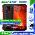 Ulefone Armor 6 IP68 Водонепроницаемый телефон Helio P60 6 ГБ + 128 Гб 5000 мА-ч, беспроводное зарядное устройство прочный смартфон 6,2