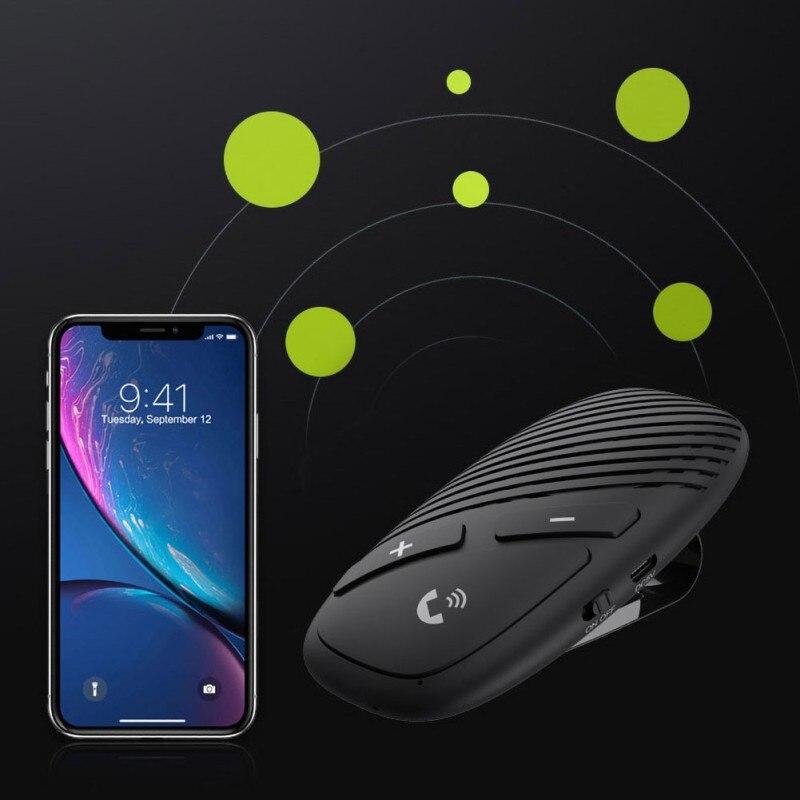 Gran oferta Bluetooth 5,0 Car transmisor receptor reproductor de música manos libres llamada adaptador inalámbrico - 6