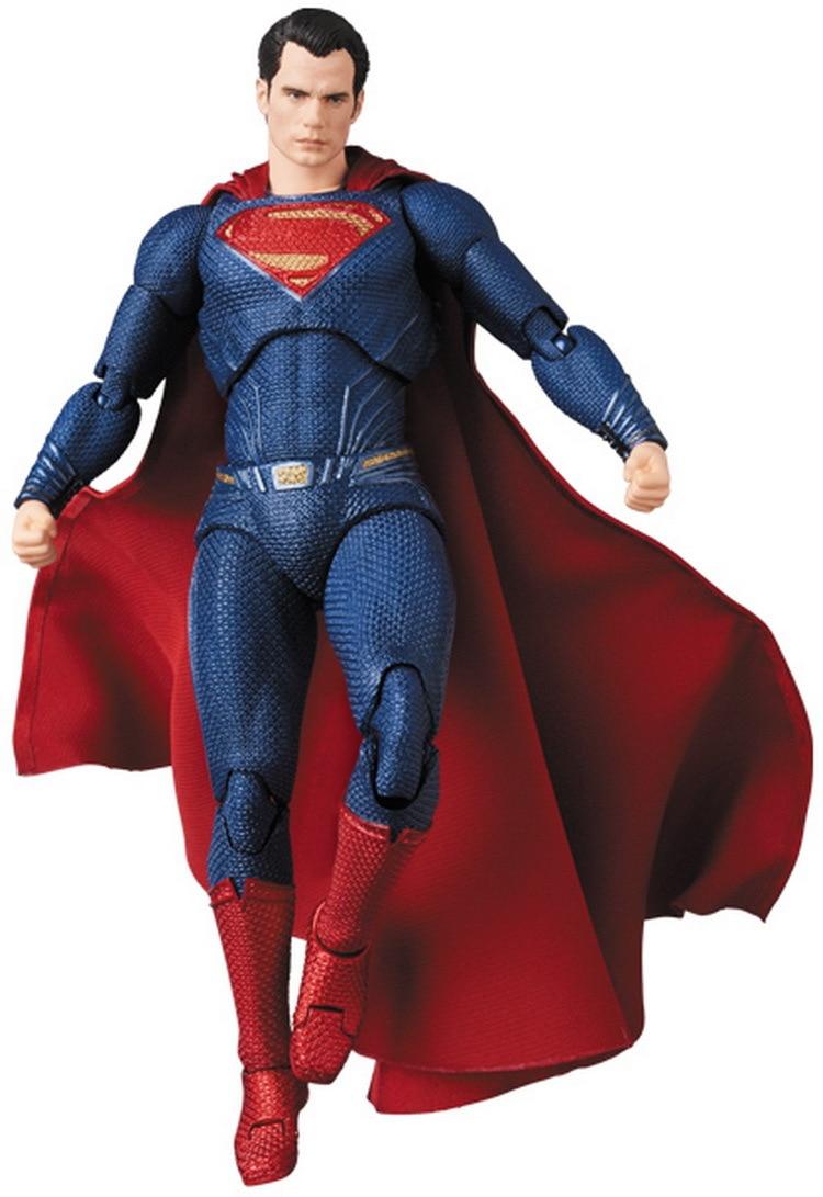 Dc superman figura de ação medicom brinquedo mafex 057 brinquedo coleção modelo 16cm