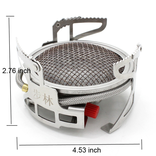 Bulin Outdoor Gas Stove Folding Cooking Furnace Camp Cookware Split Gas Furnace Stove for Camping Hiking Picnic with Pot